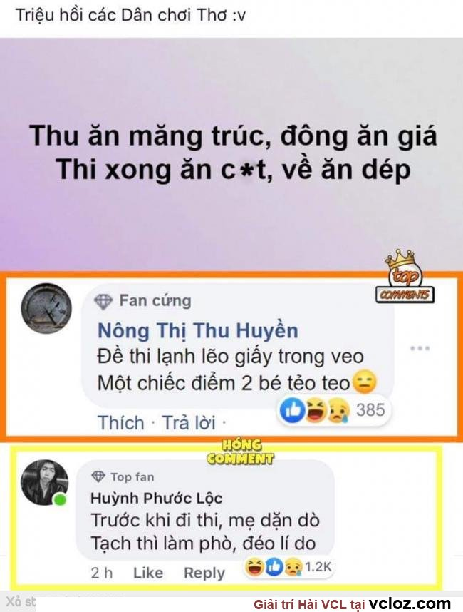 Top comment siêu bựa @ vcloz.com